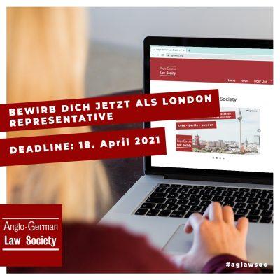 Bewerbung für die Position des London Representatives