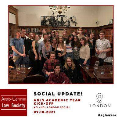 AGLS Academic Year Kick-Off – KCL + UCL London Social